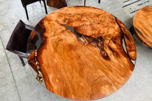 The Fire Ancient Kauri dining table