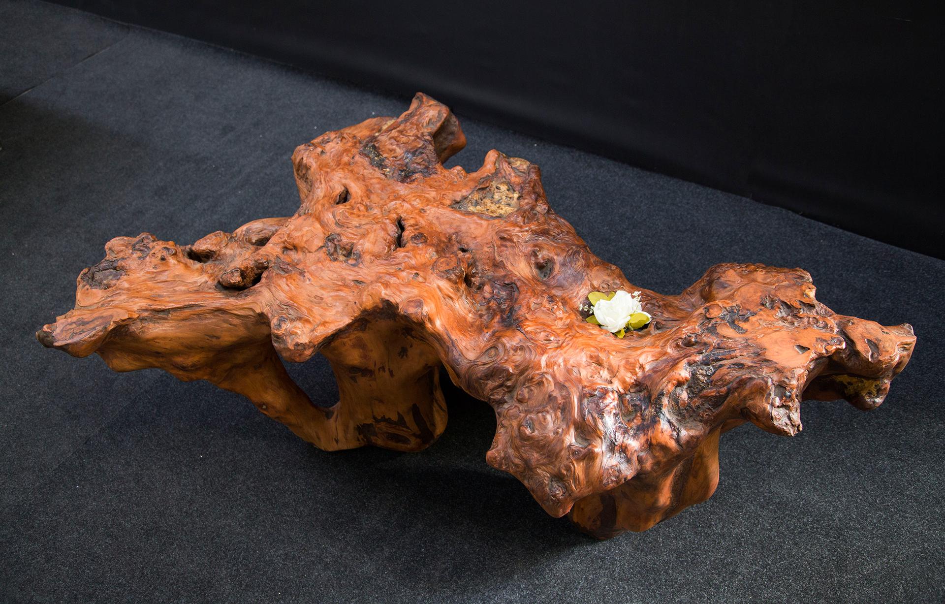 Floral Ancient Kauri burl sculpture