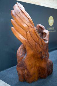 Haast Eagle Ancient Kauri sculpture