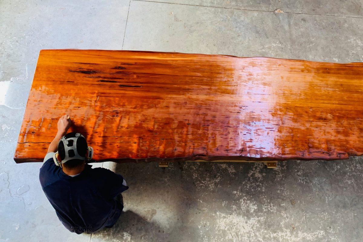 ICEWOOD making Kauri table