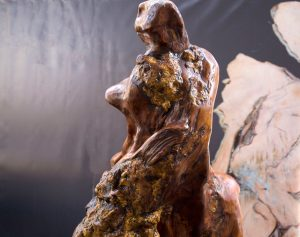 Lonely Thinker Ancient Kauri sculpture