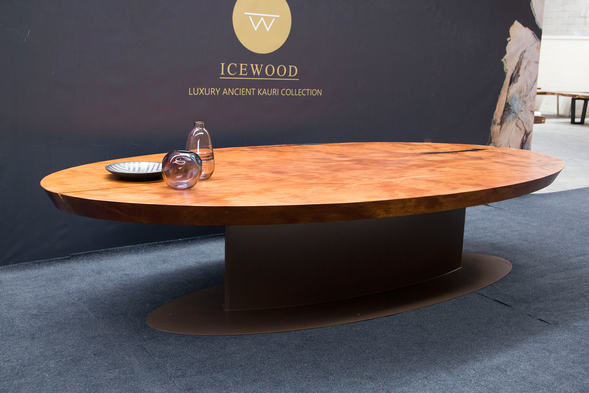 The Oval Ancient Kauri boardroom table