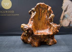 The Throne Ancient Kauri sculpture